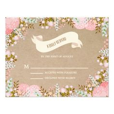 Rustic Flowers | Wedding Response Card