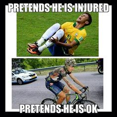 Soccer player pretends he is injured. Cyclist pretends he is ok ...
