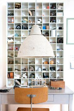 Paper mache factory lamp Diy