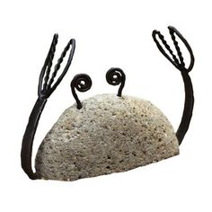 Ancient Graffiti Metal Crab Natural River Stone with Wire by Ancient Graffiti…
