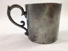 Vintage Poole Silver Co.Tauton Mass. Quadruple Plate Cup 221 Monogrammed TA