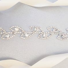 Thin Leaf Crystal Rhinestone Belt Bridal Belt or Bridesmaids
