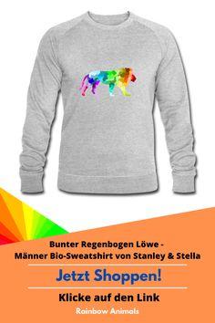 Du suchst ein Herren-Sweatshirt mit Löwen-Design. Dann haben wir das richtige für dich! Heute noch bestellen! Folge dem Link. #Löwe #Sweatshirt #Pullover #Herrenmode #Mode #Herrenstile #Stile #Design #wildeTiere #Säugetiere