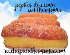 pepitos de crema con thermomix Hot Dog Buns, Hot Dogs, Bread, Chocolate, Recipes, Food, Drink, Salads, Home
