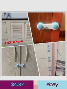 10 Pcs Baby Child Safety Cabinet Door Drawer Safety Tape Childproof Latch Locks Https Www Amazon Com Cabinet Safety Latches Child Safety Baby Proof Cabinets