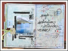 This came from an Art journal, but it is w/o doubt travel.  Love the layout!