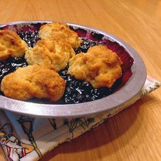 One Perfect Bite: Table for Two - Lemon Blueberry Cobbler