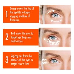 Banish tired eyes with these simple steps and our UC+ Platinum Tight Firm and Fill Eye Serum! Facebook Party, Tired Eyes, Crows Feet, Eye Serum, Beauty Hacks, Beauty Tips, Dark Circles, Natural Skin Care, Makeup Tips
