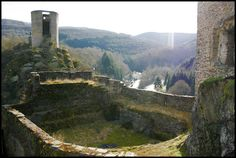 ESCH-SUR-SÛRE, LUXEMBOURG  Esch-sur-Sûre Castle Once the local rulers had gone these enchanting ruins housed common folk in an almost real life fairy tale