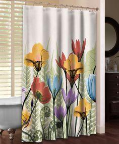 Flowers Ferns Shower Curtain