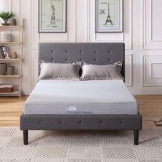 8 Inch Queen Memory Foam Gel Mattress in a Box Gray Bed Furniture  #QueenMattress