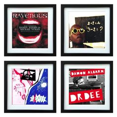 Damon Albarn | Framed Album Art Set of 4 Images | ArtRockStore