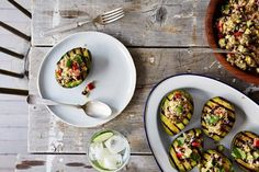 Grilled Avocado Halves with Cumin-Spiced Quinoa and Black Bean Salad | 22 Avocado Recipes Worth Trying