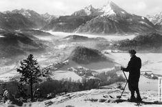 Watzmann Skifahrer Berchtesgaden Upper Bavaria Watzmann.TV