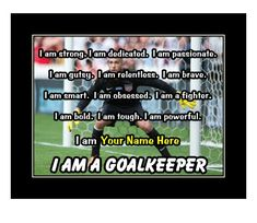 Soccer Motivation, Motivation Wall, Soccer Poster, Motivational Wall Art, Personalized Wall Art, Goalkeeper, Quote Posters, Order Prints, Helping People