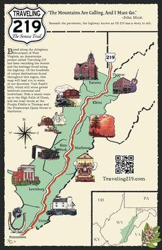 Traveling 219, the Seneca Trail, in West Virginia.