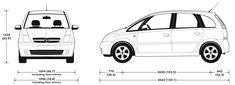 Opel Meriva A 2003 blueprint 2