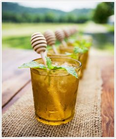 A honey mint cocktail is perfect for the summer to fall transition. Whiskey warms while mint refreshes.