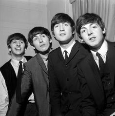 """The Beatles are a famous English band that originated in Liverpool, England. They became """"The Beatles"""" in 1960 and consisted of four very talented and incredibly influential musicians; John Lennon, Paul McCartney, George Harrison, and Ringo Starr. Ringo Starr, George Harrison, Paul Mccartney, John Lennon, Great Bands, Cool Bands, Richard Starkey, The Ed Sullivan Show, Beatles Photos"""