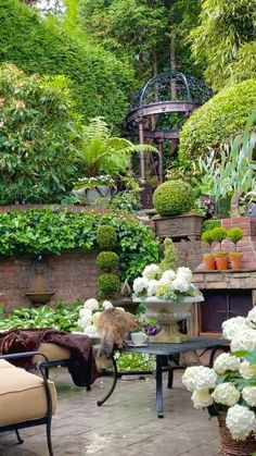 Landscaping With Fountains, Outdoor Landscaping, Outdoor Plants, Outdoor Gardens, Outdoor Decor, Beautiful Gardens, Dream Garden, Garden Art, Garden Design