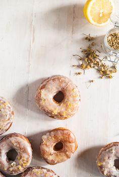 Brioche Doughnuts with Chamomile Glaze