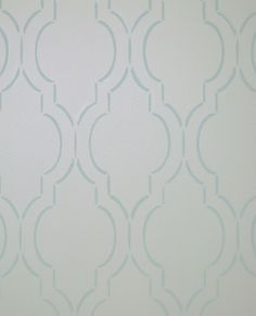 A DIY wall stencil in a dining room using the Sophia Trellis Allover Stencil from Cutting Edge Stencils. http://www.cuttingedgestencils.com/sophia-trellis-stencil-geometric-wall-pattern.html