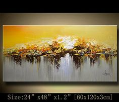 Abstract Modern Canvas Painting, Contemporary Wall Art ca. Abstract Tree Painting, Texture Painting On Canvas, Abstract Painting Techniques, Abstract Flower Art, Abstract Canvas, Canvas Art, Textured Painting, Modern Art Paintings, Landscape Paintings