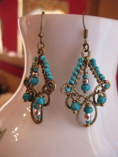 Exotic Chandelier Earrings Boho Bohemian Gypsy  by TheFirstKiss, $18.00