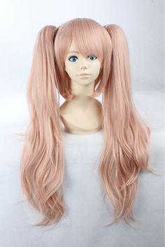 enoshima junko 65cm Pink Long Synthetic Cosplay Anime Wig.Synthetic Hair