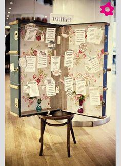 Ideias para a marcação das mesas no casamento