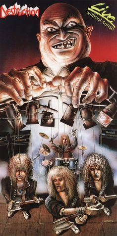 Ideas For Music Cover Artwork Heavy Metal Hard Rock, Destruction Band, Classic Rock Albums, Rock Poster, Band Wallpapers, Extreme Metal, Metal Albums, Power Metal, Heavy Metal Music