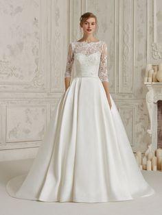 988a306923f Výsledek obrázku pro Pronovias wedding dress Jednoduché Svatební Šaty