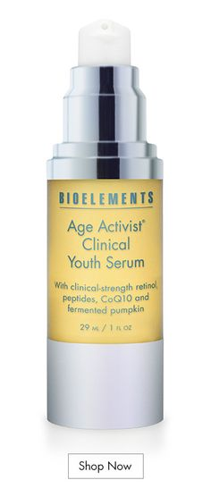 Bioelements Age Activist Clinical Youth Serum is an all-in-one youth serum with clinical-strength retinol, peptides, and fermented pumpkin that empowers the skin to resist the signs of aging. Pore Strips, Pyrus, Watermelon Fruit, Shrink Pores, Minimize Pores, Broad Spectrum Sunscreen, Acne Prone Skin, Oily Skin