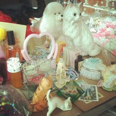 Trinkets for our installation #rookieroadtrip @urban_outfitters @tavitulle RSVP here:https://www.facebook.com/events/397972286926269/ - @petracollins | Webstagram