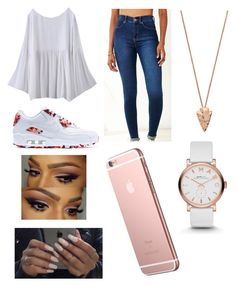 """"" by fashion-1407 on Polyvore featuring Dr. Denim, NIKE, Pamela Love and Marc by Marc Jacobs"