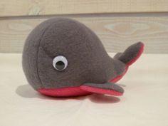 Sur Commande : Peluche Doudou Baleine grise fuschia : Jeux, peluches, doudous par clo-couture