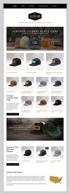 Gasoline Caps Ecommerce Web Design f229b14bd444