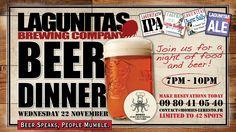 Beer Diner Lagunitas Chez Homies November 22 @ 19:00 - 22:00