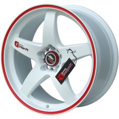 LENSO D1R WHITE RED PIN STRIPE alloy wheels with stunning look for 5 studd wheels in WHITE RED PIN STRIPE finish with 18 inch rim size