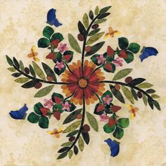 P3 Designs: Shop | Category: Baltimore Album Blocks | Product: Oklahoma - Indian Blanket
