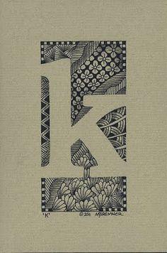 zen doodle letters- negative space