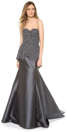 Lela Rose Embroidered Peplum Gown  was $5,995.00 now $1,798.50