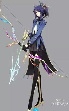 Human version of Xerneas, one of the legendary Pokemon in Pokemon X.