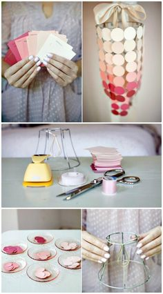 How To Make Paint Swatch Chandelier - 60 Easy DIY Chandelier Ideas That Will Beautify Your Home - DIY & Crafts