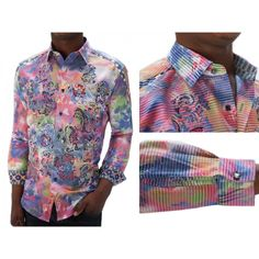 Robert Graham Shirts Swarovski Crystal Laser Art