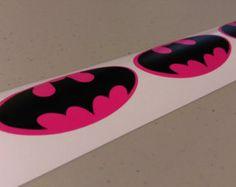 15 Black Batman Stickers for Birthday by MyThreeSonsByKristin