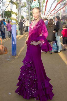 La exmodelo María León en la Feria de Abril 2013