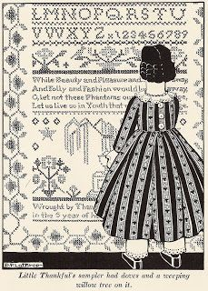 In Hitty: Her First Hundred Years , Dorothy Lathrop drew the delightful illustrations. Many of the illustrations depict Hitty in dresses tha. Embroidery Transfers, Embroidery Patterns, Vintage Embroidery, Vintage Children's Books, Vintage Sewing, Photo Elements, Real Doll, Art Database, Wooden Dolls