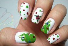 pop art xmas nails
