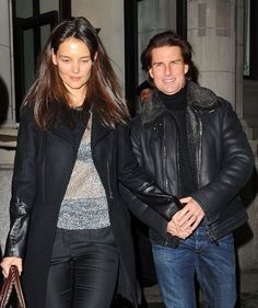 Tom Cruise and Katie Holmes birthday weekend celebrities Tom Cruise, Best Lemon Bars, Family Cruise, Birthday Weekend, Katie Holmes, Movie Stars, Marie, Toms, Leather Jacket